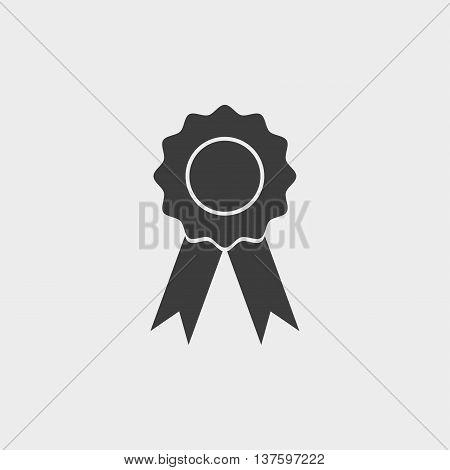 Medal Icon in a flat design in black color. Vector illustration eps10
