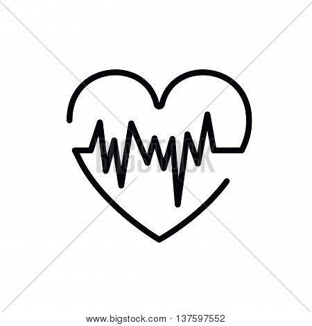 heartbeat symbol isolated icon design, vector illustration  graphic