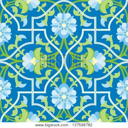 Arabesque. Pattern in Moorish style. Arab seamless texture. Element of design. Islamic  background.