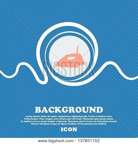 Iron Sign Icon. Blue And White Abstract Background Flecked With Space For Text And Your Design. Vect