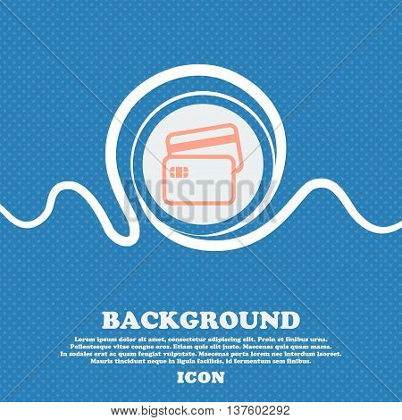 Credit Card Sign Icon. Blue And White Abstract Background Flecked With Space For Text And Your Desig