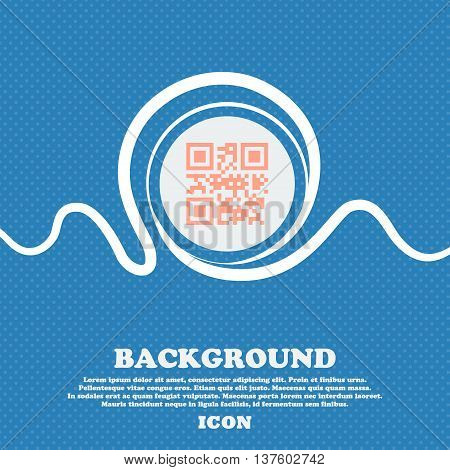 Qr Code Sign Icon. Blue And White Abstract Background Flecked With Space For Text And Your Design. V