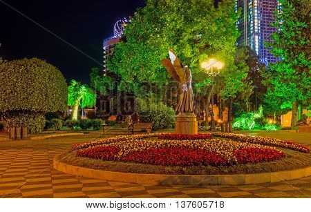 The Batumi Boulevard is one of the best and most romantic places to spend the evening Georgia.