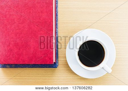 Coffee On A Wood Table