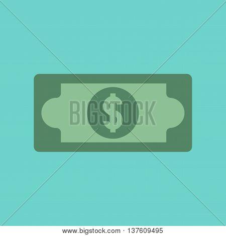 flat icon on stylish background poker dollar money