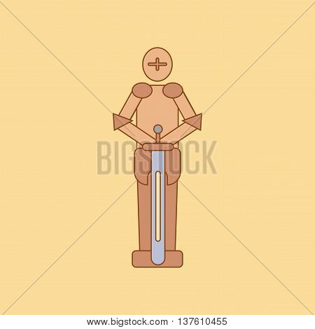 flat icon on stylish background Kids toy child soldier Knight