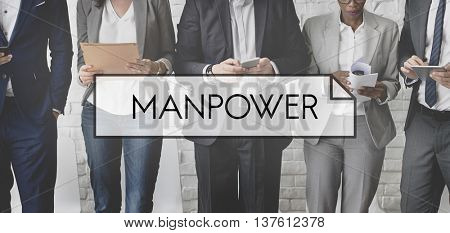 Manpower People  Company Worker Employment Concept