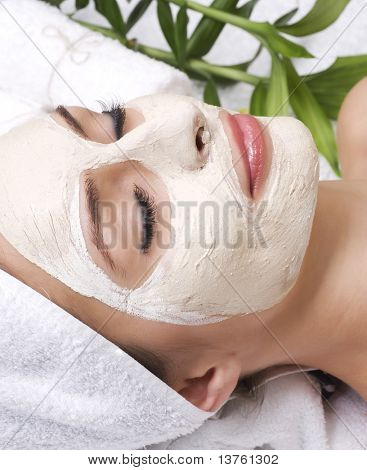 Beauty in Spa.Clay Facial Mask.Dayspa