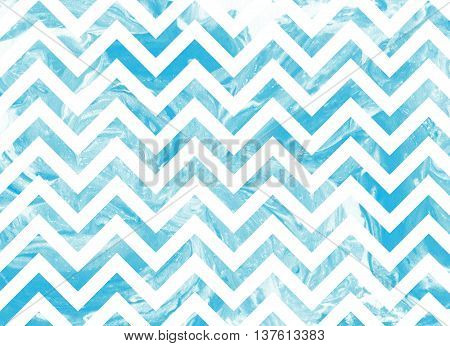 Watercolor Blue Marble Stripes Background, Chevron.