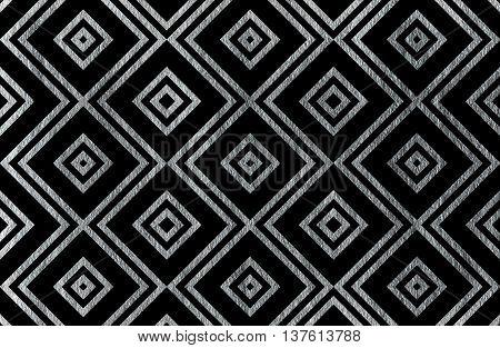 Geometrical Silver Pattern.