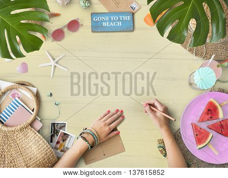 Copyspace Blank Summer Background Beach Concept