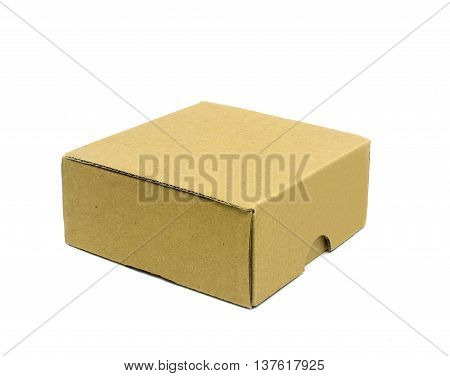 The Corrugated cardboard boxes on white background
