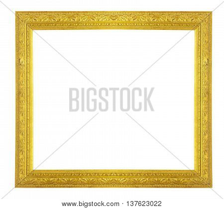 The Gold frame on a white background.