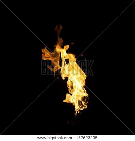 fire picture in the black background texture.