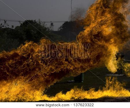 The flammable Burning fire in background texture.