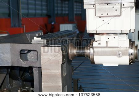 industrial metal machining cutting process of blank detail by milling cutter