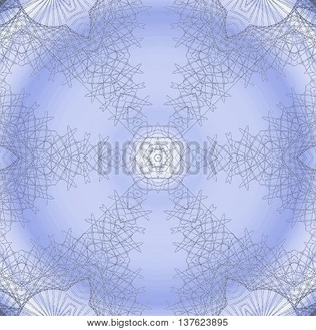 Abstract geometric seamless background. Delicate round ornament in light gray and light purple with gray outlines.