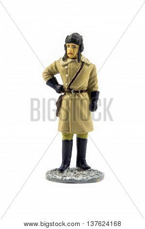 Officer of Armored Forces in winter field uniform, 1941-1945
