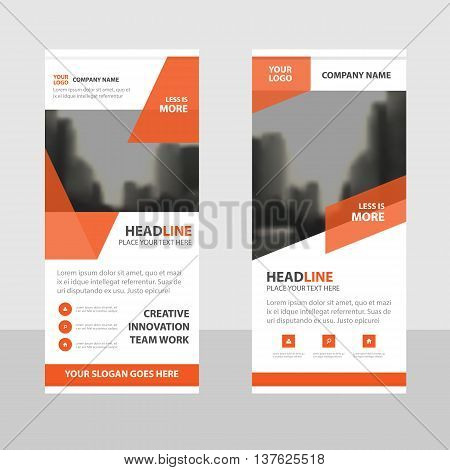 Orange Business Roll Up Banner flat design template Abstract Geometric banner template Vector illustration set abstract presentation brochure flyer template vertical template vector