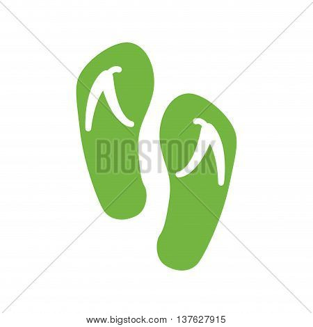 Shoe concept represented by woman sandal icon. Isolated and flat illustration