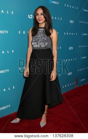 LOS ANGELES - JUL 7:  Aurora Perrineau at the Equals LA Premiere at the ArcLight Hollywood on July 7, 2016 in Los Angeles, CA