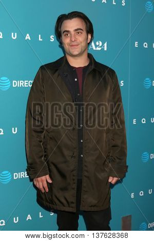 LOS ANGELES - JUL 7:  Nicholas Jarecki at the Equals LA Premiere at the ArcLight Hollywood on July 7, 2016 in Los Angeles, CA
