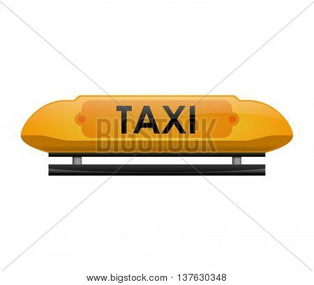 Public service concept represented by taxi text icon. Isolated and flat illustration