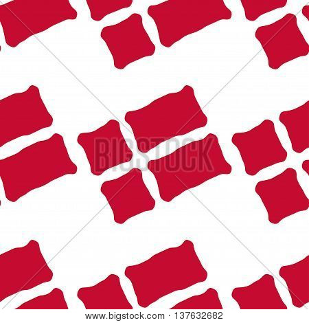 Seamless pattern of stylized flags of Denmark. Constitution or National Day flat seamless pattern. Colors of Danish flag. Happy Constitution day of Denmark background.