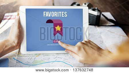 Favorites Bookmark Popular Data Technology Concept