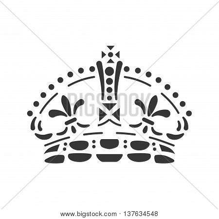 Royalty oncept represented by crown icon. Isolated and flat illustration