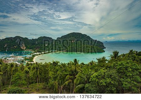View Point Koh Phi Phi Don in andaman sea, Phuket, Krabi, South of Thailand.