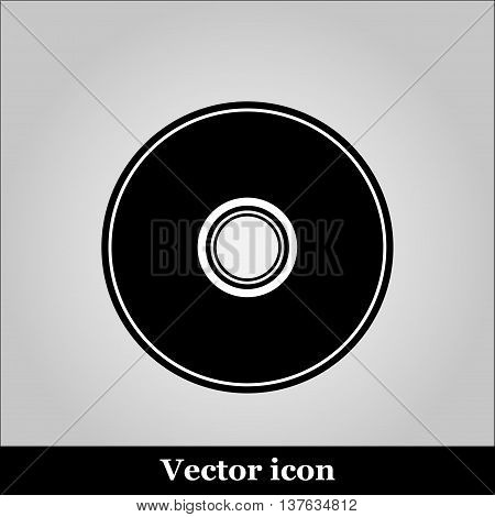 Vector CD or DVD icon on grey background