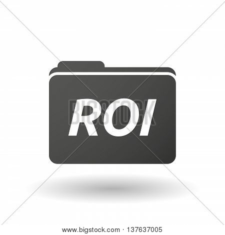 Isolated Folder Icon With    The Return Of Investment Acronym Roi