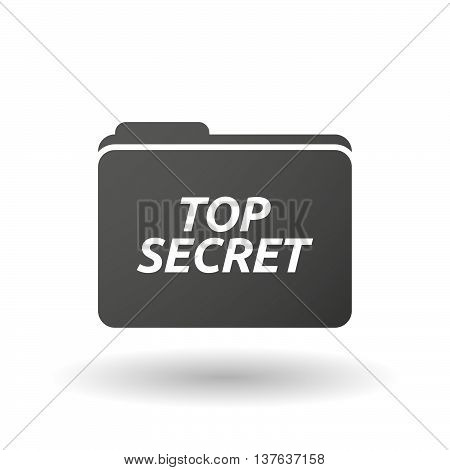 Isolated Folder Icon With    The Text Top Secret