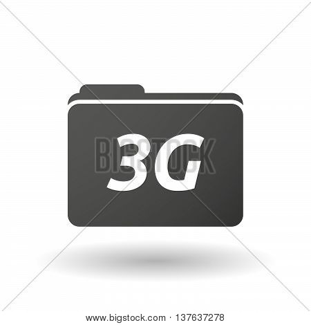 Isolated Folder Icon With    The Text 3G