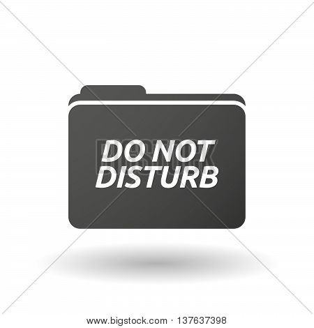 Isolated Folder Icon With    The Text Do Not Disturb