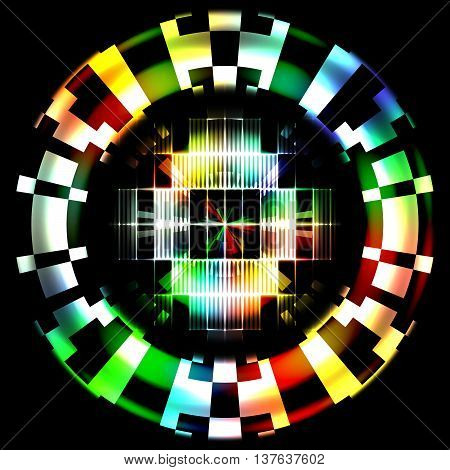 Abstract Technology Color Wheel Digital Camouflage Design