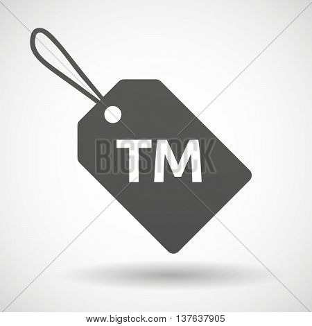 Isolated  Product Label Icon With    The Text Tm