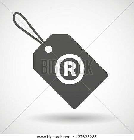 Isolated  Product Label Icon With    The Registered Trademark Symbol