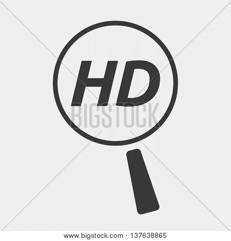 Isolated Magnifying Glass Icon Focusing    The Text Hd
