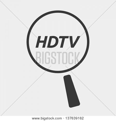 Isolated Magnifying Glass Icon Focusing    The Text Hdtv
