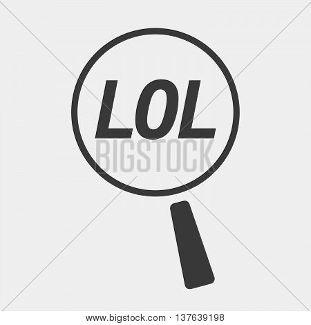 Isolated Magnifying Glass Icon Focusing    The Text Lol