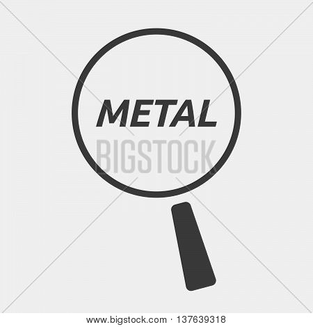 Isolated Magnifying Glass Icon Focusing    The Text Metal
