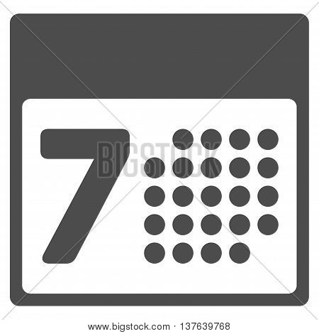 Organizer Week vector icon. Style is flat symbol, gray color, rounded angles, white background.
