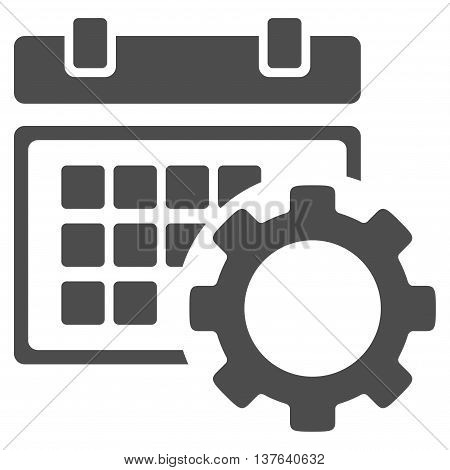 Schedule Setup vector icon. Style is flat symbol, gray color, rounded angles, white background.