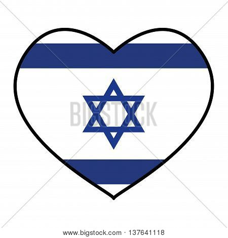 Israel culture concept represented by Flag with star icon. Isolated and flat illustration