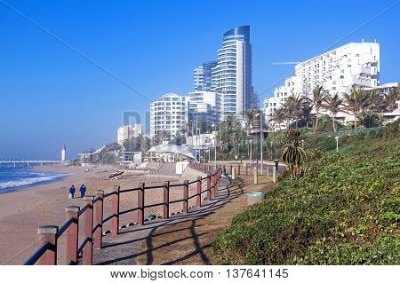 Dune Vegetation And Commercial And Residential Complexes