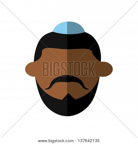 Israel culture concept represented by man cartoon icon. Isolated and flat illustration