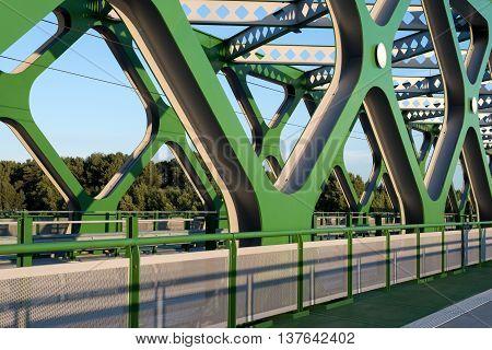 fragment of the old New Bridge in Bratislava