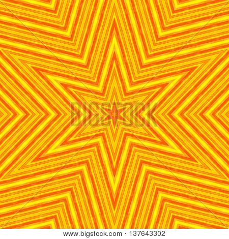 Bright color background with abstract striped star pattern
